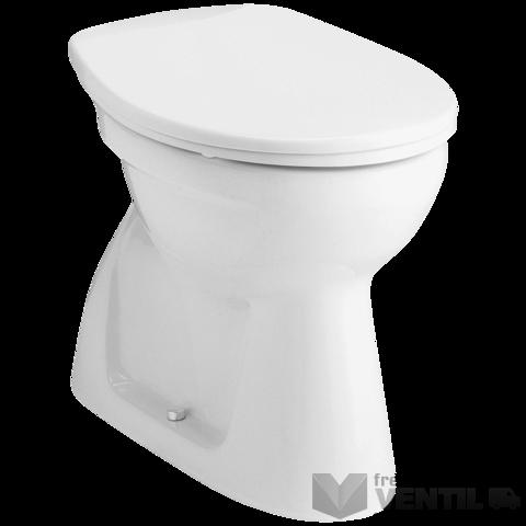 Alföldi Bázis 4033 fehér színű, hátsó kifolyású, mély öblítésű, bucis kivitelű WC csésze