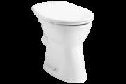 Alföldi Bázis 4030 lapos öblítésű, hátsó kifolyású, fehér színű WC csésze