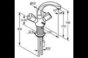 Kludi Standard mosdó csaptelep fix öntött kifolyócsővel