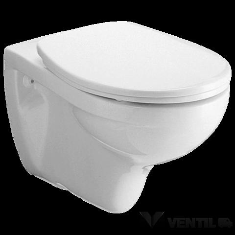 Alföldi Saval 4056 falra szerelhető, fehér színű, mély öblítésű, hátsó kifolyású WC csésze