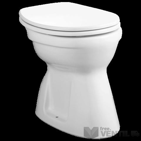 Alföldi Bázis 4037 alsó kifolyású, lapos öblítésű, fehér színű WC csésze